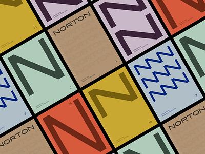 Norton — Editorial Design cover magazine editorial layout colorful logo identity flat typography brand design