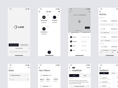 Lunie — iOS UX app design ios ux design app ux ui layout clean design