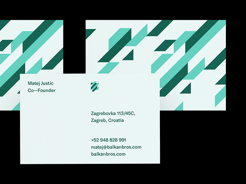 Balkan Bros. — Business Card logo pattern brothers balkan identity brand business card