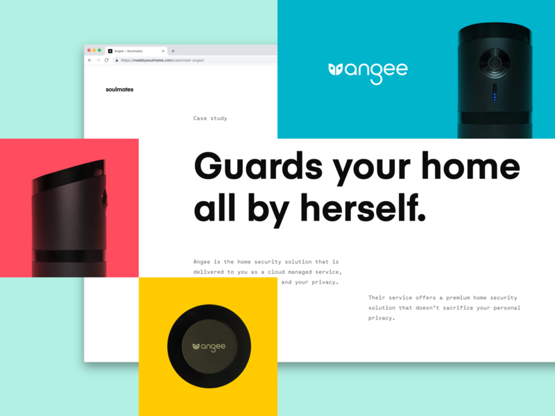 Angee — Case Study / Art Direction ux ui flat website typography clean brand design