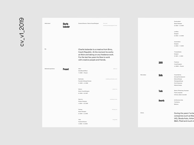 January 2019 typography design brand clean resume cv