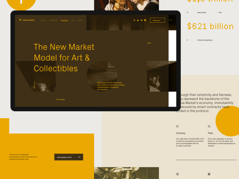 Value — Economy Landing Page ux landing page website typography flat clean brand design