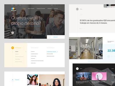 IQS — University Website ui layout editorial colorful ux landing page website flat typography brand clean design