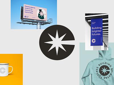 Chicago Lights — Building brighter futures. colorful flat clean identity symbol logo branding brand design