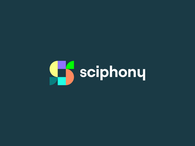 Sciphony — Video Editing App app icon identity colorful logo flat typography clean brand design