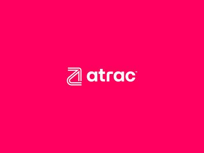 Atrac icon vector branding logo identity typography flat brand clean design