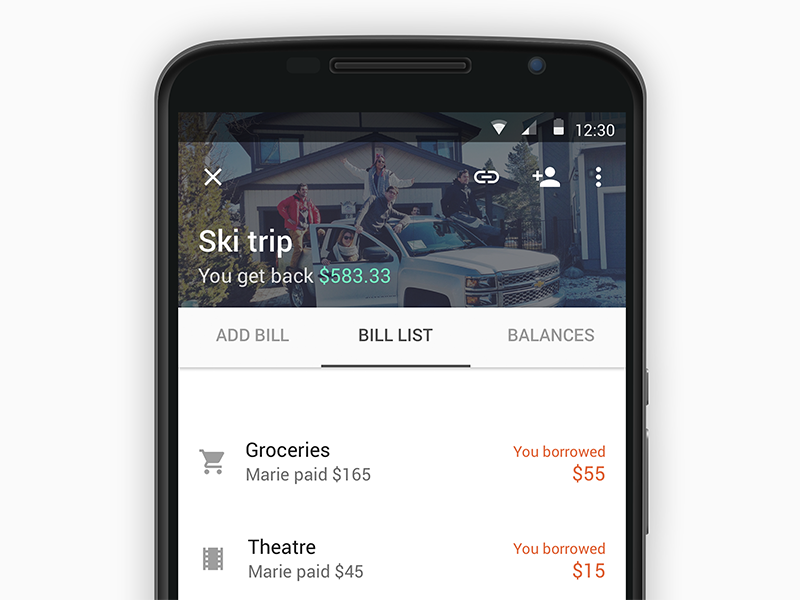 Splitwise redesign (2/2) material design payment splitwise