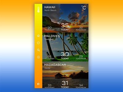 Mobile Challenge relax water beach hot summer temperature sun app madagascar maldives hawaii whether