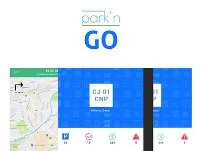 Park'n GO Profile, Side Menu, Home Screens