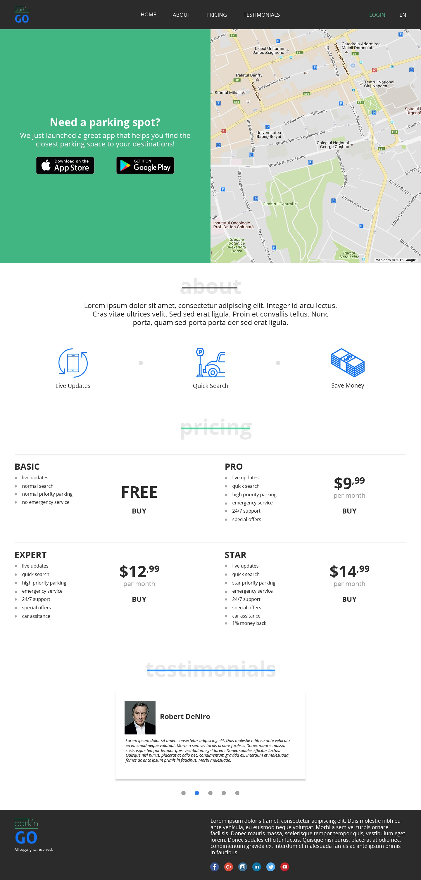 Park n go website