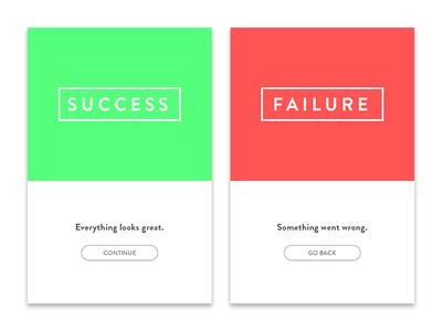 UI 011 Succes/Error Cards