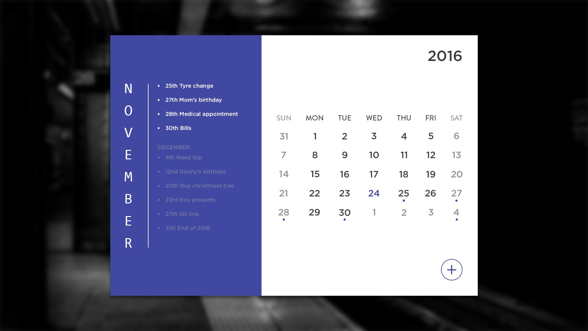 Ui 014 calendar