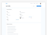 Dashboard App - User Settings