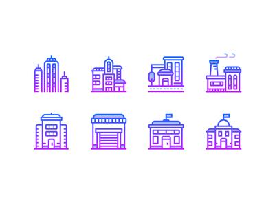 Gradient line: Buildings
