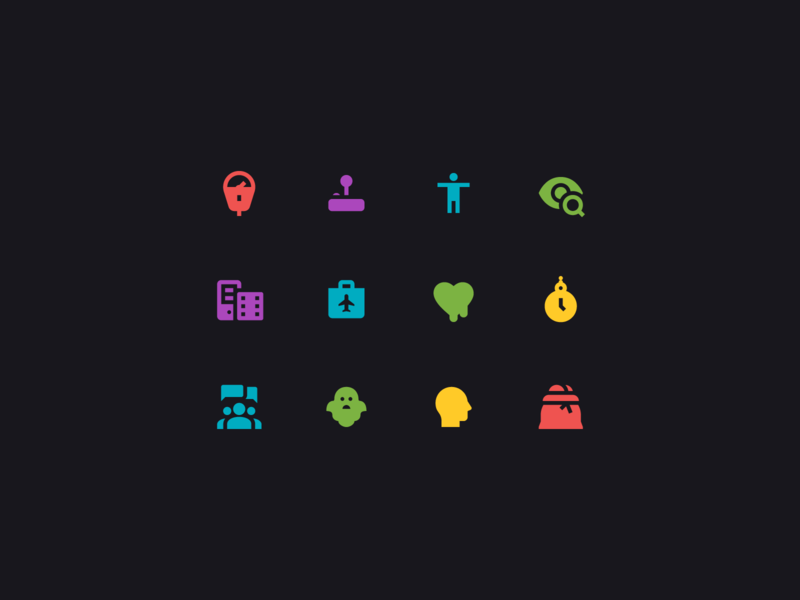 Material filled icons iconography filled icons glyph app icon design ui design clock profile icon eye heart chat people money bag ghost man illustration material ui material icons web design icons set icons