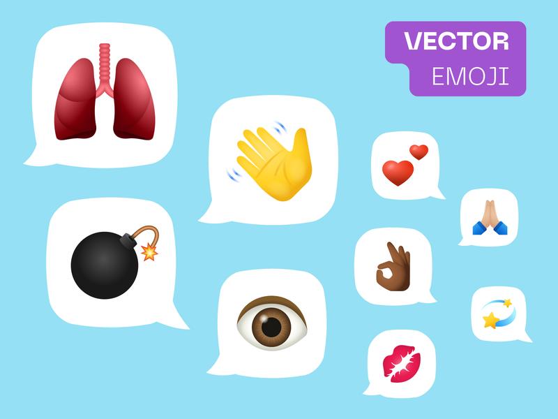 Vector Emoji like reactions body parts hand gestures heart hand webdesign graphic design stickers emotion emoji set emoji vector
