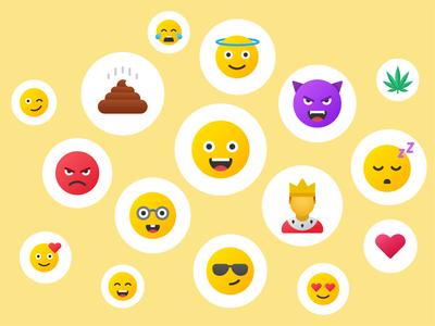 Emoji: Fluent style yellow ui design heart icons design emotion smile emoji icons set fluent icons