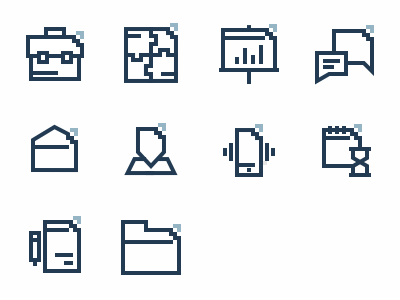 Icons for Econ of consulting company