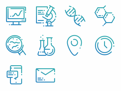 Icons for laboratory company