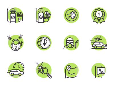 Icons for the disinfection company