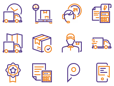 Icons For Delivery Company