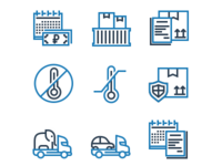 Icon Set For Delivery Company
