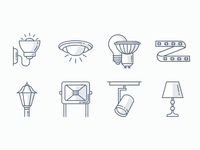Light Fixtures Icons