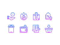 Gradient icons: Black friday
