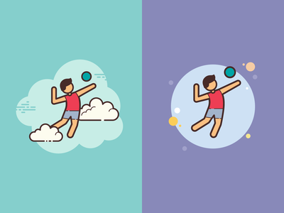 Cloud&Bubble icons: Volleyball Player