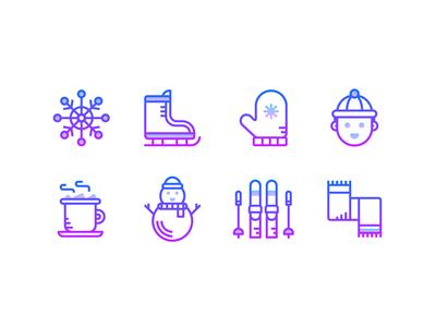 Gradient icons: Winter