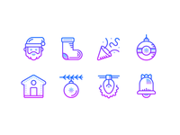 Gradient icons: Christmas