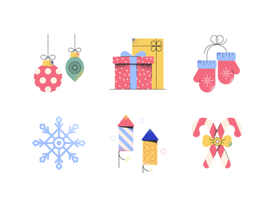 Christmas icons christmas jingle bell fireplace gift ice skating candy cane christmas tree winter snowflake santa vector graphics graphic design vector design infographics illustration icons design icons pack icons set icons