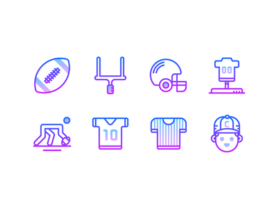 Gradient line: American football gradient icon super bowl helmet nfl referee american football sport soccer football vector graphics graphic design ux design ui design outline icon infographics illustration icons design icons pack icons set icons