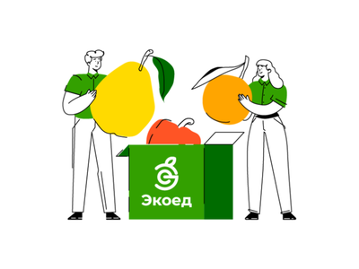 Quality products from the best manufacturers delivery human vegetable products quality manufacturer character illustration character web illustrations food illustration vector character design illustration