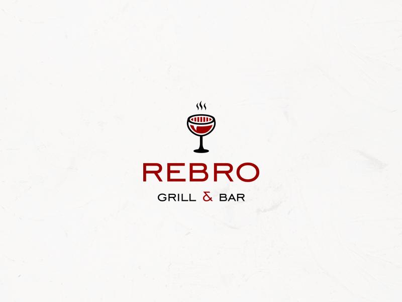 Wine glass 🍷 + grill 🥩 grill logo wine glass food logo wine logo logodesigner cafe logo logotype mark brand logoconcept logodesign identity branding logo