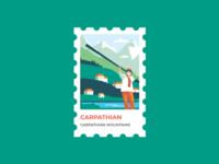 Stamp Ukrainian Carpathian