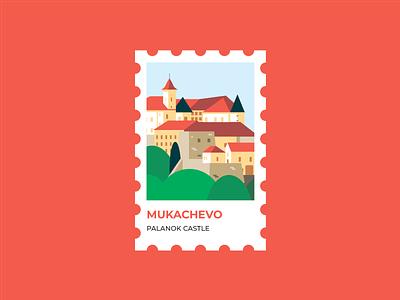 The Palanok Castle or Mukachevo Castle in Ukraine build building landscape brand illustration stamp sights illustrations illustration ukraine castle mukachevo palanok castle the palanok castle