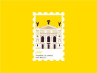 Lviv Stamp. Theater of Opera and Ballet.