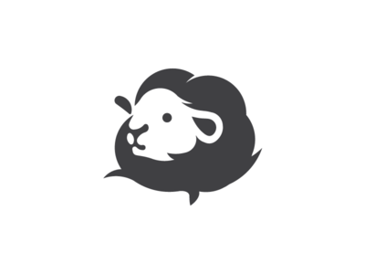 Cotton flower + sheep logo