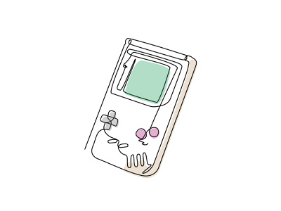 One Line Art (GAME BOY) childhood nintendo family design gameboy artists one-line vector creative work art illustration