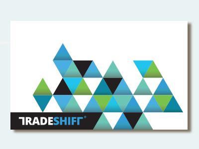 Dribbble Ts Card branding visual identity triangles simple logo swiss modern triangle angles grid network tradeshift