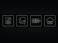 Icon set for Financial Software website