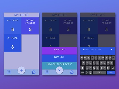 Tasq productivity app ixd design interaction application to-do mobile productivity ux ui app