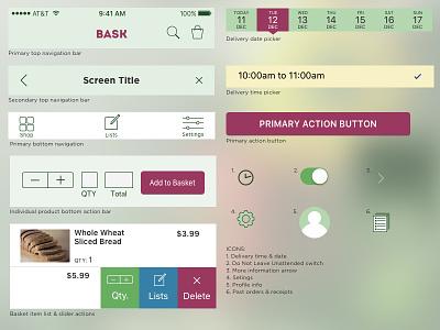 UI kit for BASK ux kit app mobile iphone ios10 user interface ui ios
