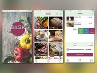 BASK app screens