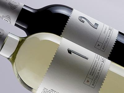 Spinefrasse italy numbers fibonacci design label wine packaging
