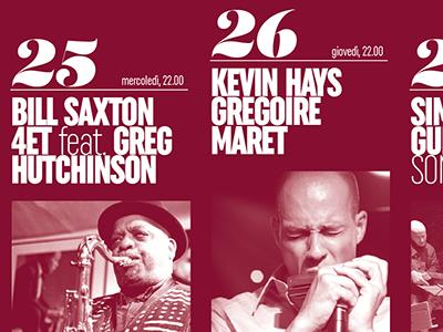 Types#1 1colour firenze uniform jazz poster program music typography