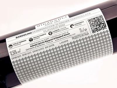 Bigagnoli Wines white black concept award texture italy design label wine packaging