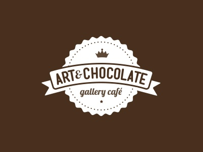 Art&Chocolate drink icecream bar coffee sweet food banner café brand logo chocolate art