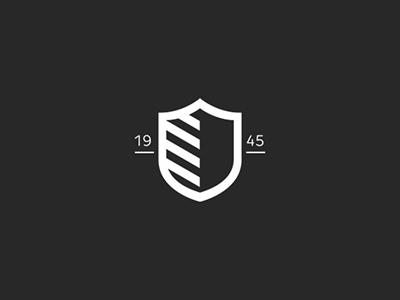 Shield Design for Manni Group defense technology 1945 brand logo shield
